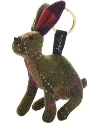 Joules - Tweed Hare Keyring - Lyst