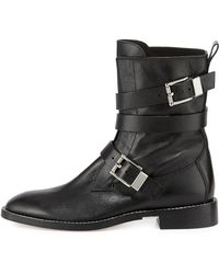 Alexander Wang Louise Leather Moto Boot - Lyst