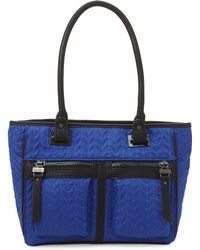 Nicole Miller - Blue & Black Astoria Handbag - Lyst