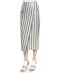 O'2nd - Striped Midi Skirt  - Lyst