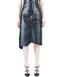 Capara - Leather Pencil Skirt 26 - Lyst