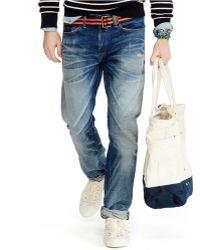 Polo Ralph Lauren Varick Slim-Straight Clayton-Wash Jeans - Lyst
