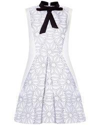 Pixie Market Amelia Bow Tie Dress - Lyst