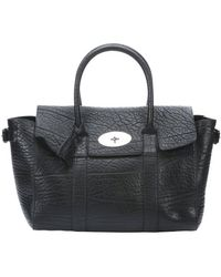 Mulberry Black Leather Bayswater Buckle Tote Bag - Lyst