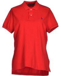 Ralph Lauren Red Polo Shirt - Lyst
