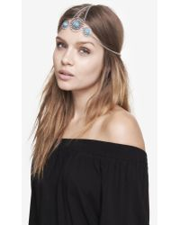 Express - Turquoise Medallion Head Chain - Lyst