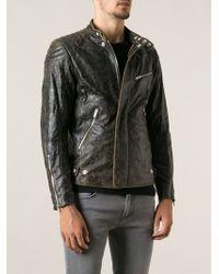 Dondup Distressed Biker Jacket - Lyst