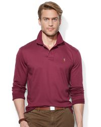 Polo Ralph Lauren Long Sleeved Pima Soft Touch Polo Shirt - Lyst