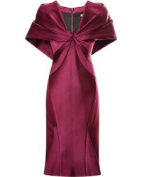 Zac Posen Capeeffect Duchess Satin Dress - Lyst