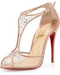 2f2ed73a5430 Christian Louboutin - Patinana Strass Red Sole Sandal - Lyst