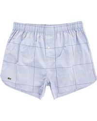 Lacoste Blue Chambray Stretch Cotton Underpants blue - Lyst