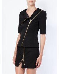 Bouchra Jarrar - Half Sleeve Zipped Jacket - Lyst