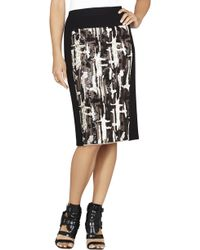 BCBGMAXAZRIA Aideen Brushstroke Sequin Pencil Skirt - Lyst
