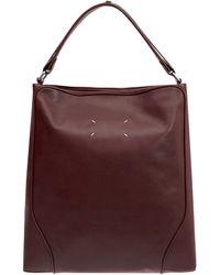Maison Margiela Burgundy Leather Bag - Lyst