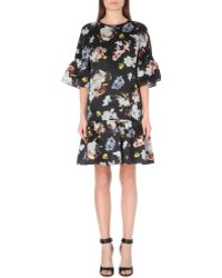 Erdem Pleated-detail Silk Dress - Lyst