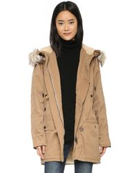 Free People - Whistler Parka With Faux Fur Hood - Lyst