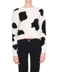 Moschino Merino Wool Cash Cow Pull - Lyst