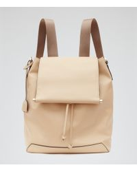 Reiss | Luca Leather Backpack | Lyst