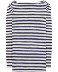 Tory Burch Lesley Striped Linen Top - Lyst