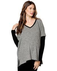Drew - Maternity Drop-shoulder Textured Sweater - Lyst