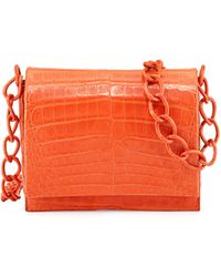 Nancy Gonzalez Small Crocodile Chain Crossbody Bag - Lyst
