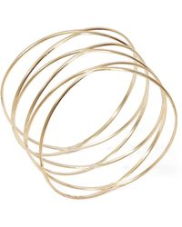 Panacea - Goldtone Wire Bangle - Lyst