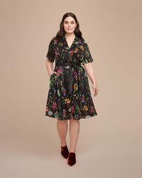 Jason Wu - Crinkle Silk Short Sleeve Dress - Lyst
