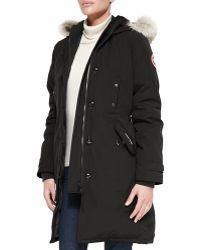 Canada Goose kids online store - Canada goose Trillium Cg55 Parka in Black | Lyst