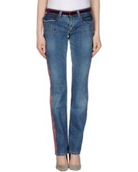D&G Blue Denim Pants - Lyst