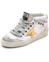 Golden Goose Deluxe Brand Mid Star Sneakers - White - Lyst