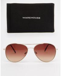 Warehouse - Classic Aviator Sunglasses - Lyst