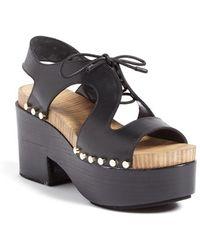 Balenciaga | Wooden Platform Sandal | Lyst
