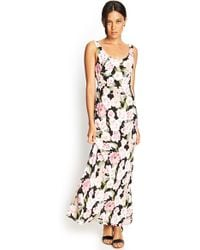 Forever 21 Floral Print Maxi Dress - Lyst