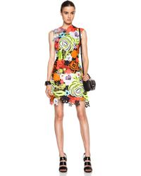 Christopher Kane All Over Motif Poly Dress - Lyst