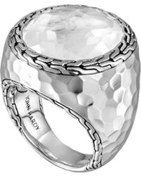 John Hardy Batu Palu Silver Ring With Moon Quartz - Lyst