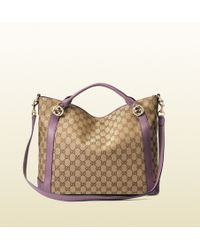 Gucci Miss Gg Original Gg Canvas Top Handle Bag - Lyst