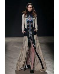 Mary Katrantzou Riva Maxi Pleated Skirt Embroidered - Lyst
