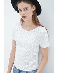 Forever 21 Woven Chevron Top - Lyst