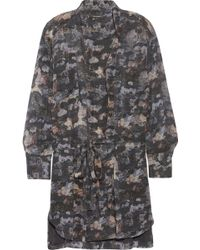 Isabel Marant Carla Printed Silkgeorgette Mini Dress - Lyst