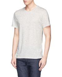 Denham 'Signature Crew' Cotton-Linen T-Shirt - Lyst