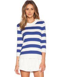 Kate Spade Stripe Sweater white - Lyst