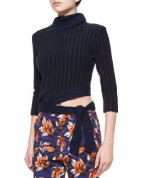 Risto - Angled Tie-waist Ribbed Sweater - Lyst