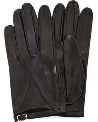 Imoni | Color Blocked Lambs Leather Glove With Strap | Lyst