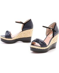 Nina Ricci - Knotted Espadrille Wedges - Lyst