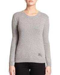 Burberry Brit Cotton & Cashmere Logo Sweater - Lyst