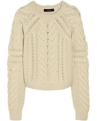 Isabel Marant Vichy Cableknit Wool Sweater - Lyst