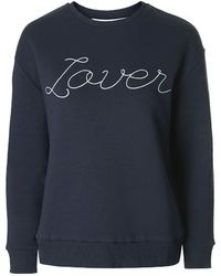 Topshop Petite Lover Sweatshirt By Tee And Cake blue - Lyst