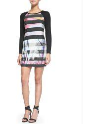 Trina By Trina Turk - Montecito Striped Street-Print Dress - Lyst