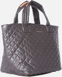 MZ Wallace - Small Metro Tote Steel Metallic - Lyst