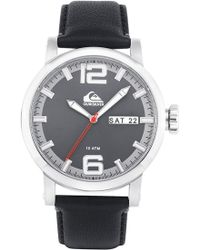 Quiksilver - 'the Sentinel' Leather Strap Watch - Lyst